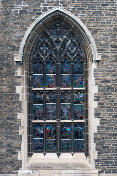 Trinity College Gothic Revival Design And Architectural Features Of The Vintage Walls Stained Glass Window