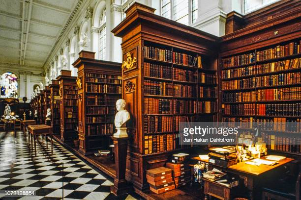 trinity college library, cambridge - cambridge university stock pictures, royalty-free photos & images