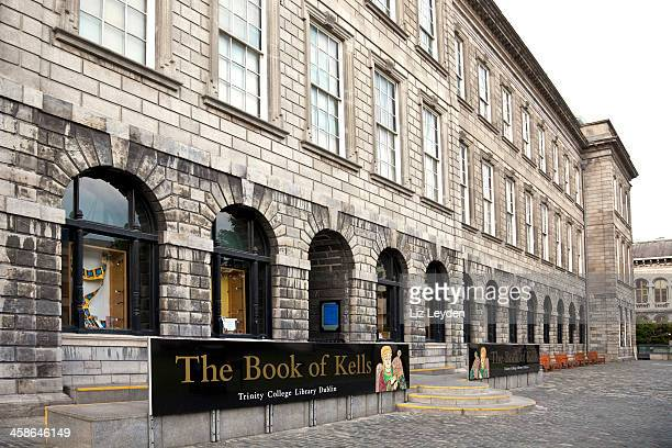 trinity college library, dublin: home to the book of kells - book of kells stock pictures, royalty-free photos & images