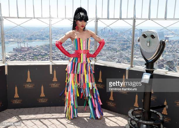 """Trinity K. Bonet attends as Empire State Building hosts the cast of """"RuPaul's Drag Race All Stars"""" Season 6 on June 24, 2021 in New York City."""