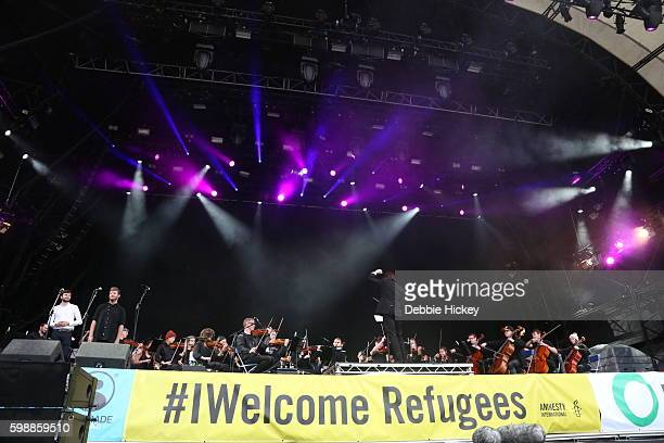 Trinity Orchestra performs on the Main Stage of Electric Picnic Festival at Stradbally Hall Estate on September 3 2016 in Laois Ireland