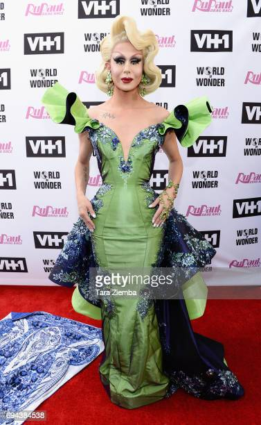 Trinity Taylor arrives at 'RuPaul's Drag Race' Season 9 Finale Taping at Alex Theatre on June 9 2017 in Glendale California