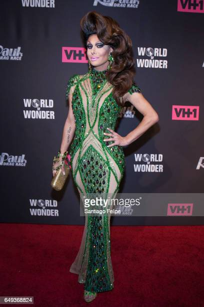 Trinity Taylor attends 'RuPaul's Drag Race' Season 9 Premiere Party Meet The Queens Event at PlayStation Theater on March 7 2017 in New York City