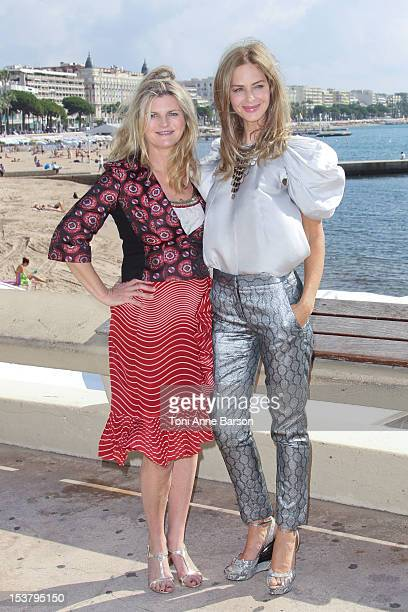 Trinny and Susannah attend 'Trinny And Susannah: Inside Out' Photocall as part of MIPCOM 2012 at Hotel Majestic on October 8, 2012 in Cannes, France.