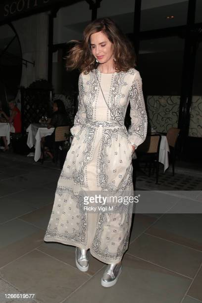 Trinny Woodall and Charles Saatchi seen at Scott's restaurant having dinner with friends on August 12, 2020 in London, England.
