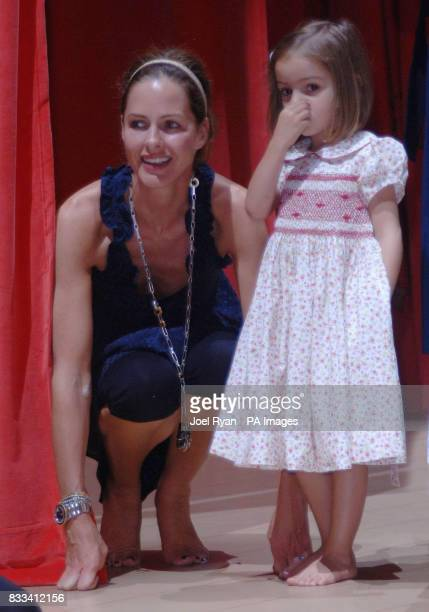 Trinny Woodall and daughter Lyla age 4 attend Angelina Ballerina's Star Performance at the start of the 12 week regional tour across the UK at the...