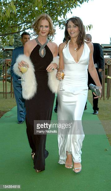 Trinny Woodall and Elizabeth Hurley during The 6th Annual White Tie Tiara Ball to Benefit the Elton John Aids Foundation in association with Chopard...