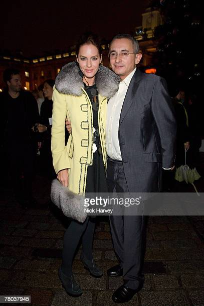Trinny Woodall and her husband Jonny Elichaoff attend the Tiffany tree lighting by Thandie Newton at Somerset House November 20 2007 in London England