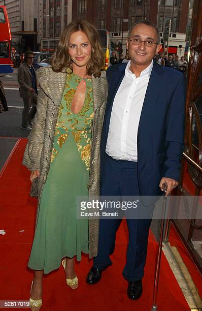 Trinny Woodall and husband Johnnie Elichaoff arrive at the Opening Night and World Premiere of Billy Elliot The Musical at the Victoria Palace...