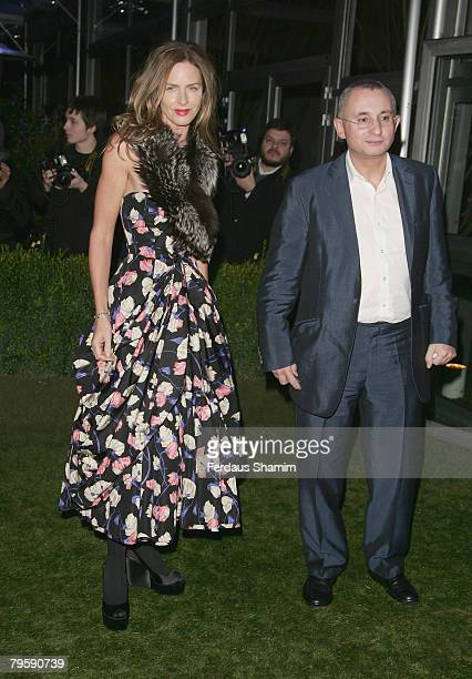Trinny Woodall and husband Jonny Elichaoff arrive at The Conservative Party Black and White Ball at Battersea Evolution on 6th February 2007 in London
