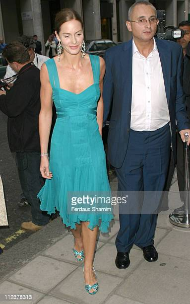 Trinny Woodall and husband Jonny Elichaoff during 4 Inches A Project For Women About Women By Women Charity Auction at Christie's in London Great...