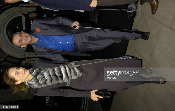 Trinny Woodall and husband Jonny Elichaoff during Tatlers Little Black Book Launch Party Arrivals November 9 2005 at Baglioni Hotel in London Great...