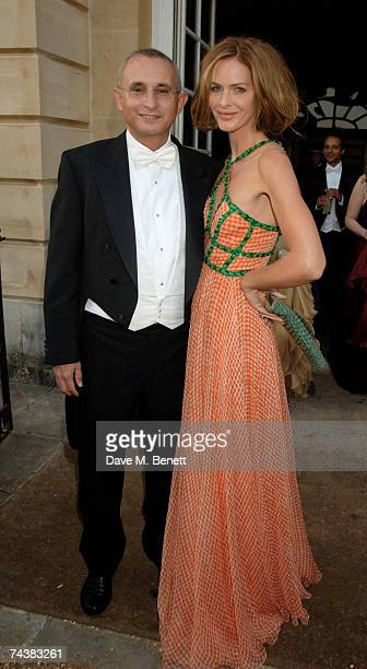 Trinny Woodall and Johnny Elichaoff arrive at the Raisa Gorbachev Foundation Party at the Hampton Court Palace on June 2 2007 in Richmond upon Thames...
