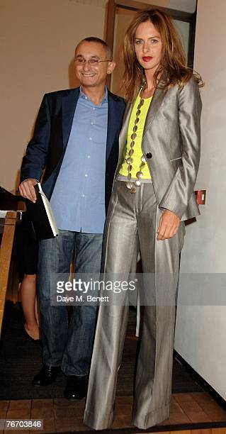 Trinny Woodall and Johnny Elichaoff attend a private viewing of Movers Shakers an exhibition of photographs by Barry Ryan at the Hamiltons Gallery on...