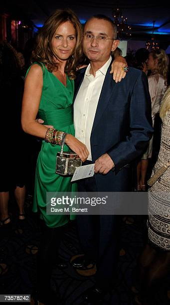Trinny Woodall and Johnny Elichaoff attend charity party for the Lavender Trust at Breast Cancer Care at the Claridge's Hotel on March 14 2007 in...