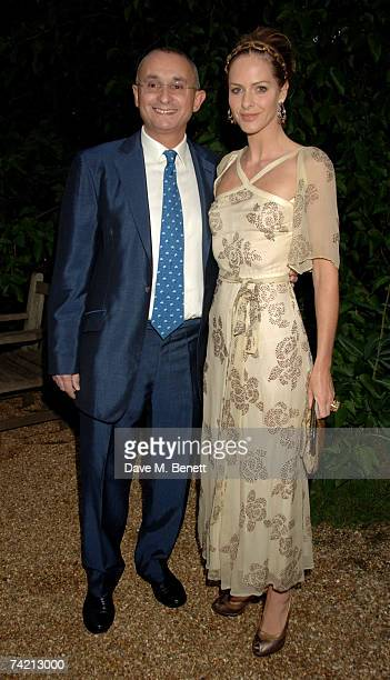 Trinny Woodall and Johnny Elichaoff attend private dinner hosted by Cartier at the Chelsea Physic Garden on May 21 2007 in London England