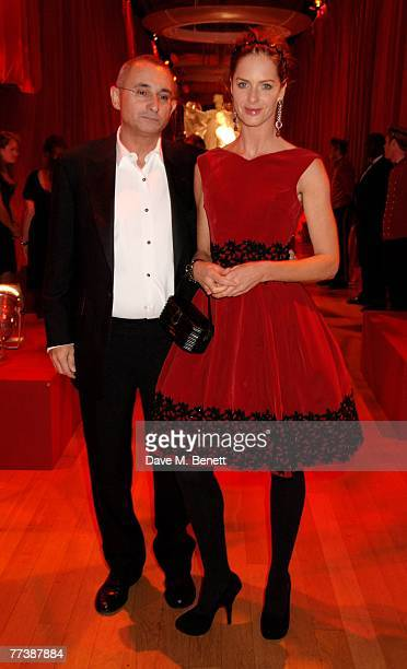 Trinny Woodall and Johnny Elichaoff attend the Cartier VIP dinner to celebrate the reopening of their New Bond St store at the Natural History Museum...