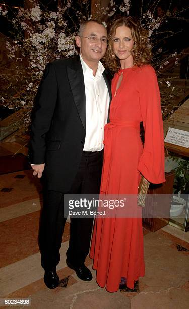 Trinny Woodall and Johnny Elichaoff attend The Feast of Albion Quintessentially Gala Banquet in aid of the Soil Association at the Guildhall on March...