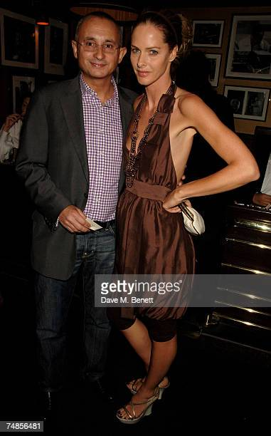 Trinny Woodall and Johnny Elichaoff attend the Hoping Foundation Benefit Evening hosted by Bella Freud in aid of the HOPING foundation at Ronnie...