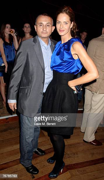 Trinny Woodall and Johnny Elichaoff attend the Quintessentially Trunk Party at The Serpentine Lido on September 16 2007 in London England