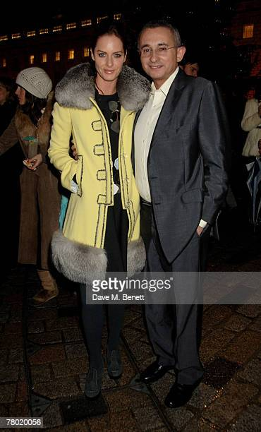 Trinny Woodall and Johnny Elichaoff attend the VIP opening of the Somerset House Ice Rink at Somerset House on November 20 2007 in London England