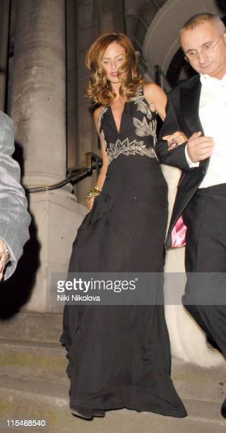 Trinny Woodall and Jonny Elichaoff during Sam Taylor Wood's Birthday Party at Shoreditch Town Hall in London Great Britain