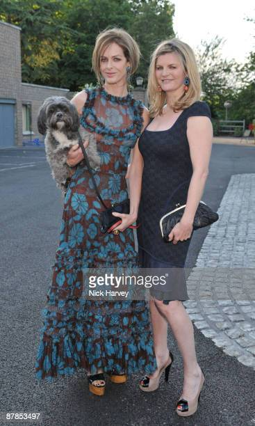 Trinny Woodall and Susannah Constantine with dog Poppy attend the Dogs Trust Honours 2009 at The Hurlingham Club on May 19 2009 in London England