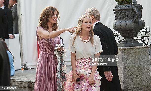 Trinny Woodall attends Poppy Delevingne and James Cook's wedding reception held in Kensington Palace Gardens on May 16 2014 in London England