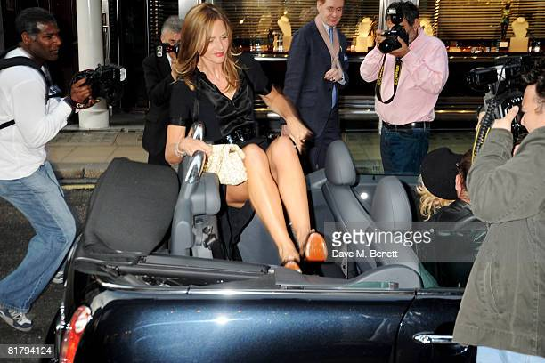 Trinny Woodall attends the book launch party of Simon Sebag Montefiore's book 'Sashenka' at Asprey on July 1 2008 in London England