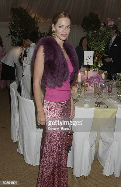 Trinny Woodall attends the Cartier dinner to celebrate the start of the Chelsea Flower Show held at the Phisic Garden on May 24 2004 in London