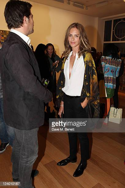 Trinny Woodall attends the debut screening of a short film collaboration between Bella Freud and director Martina Amati at Max Wigram Gallery on...