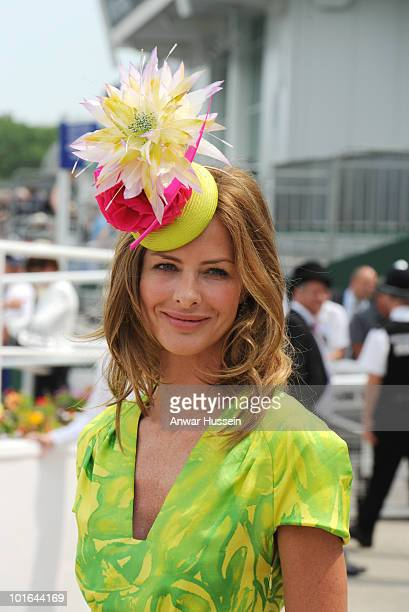 Trinny Woodall attends the Investec Derby at Epsom Downs Racecourse on June 5, 2010 in Epsom, England