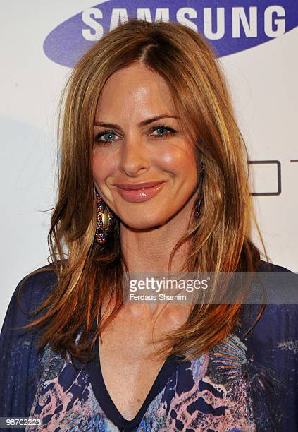 Trinny Woodall attends the launch party for Samsung 3D Television at the Saatchi Gallery on April 27 2010 in London England