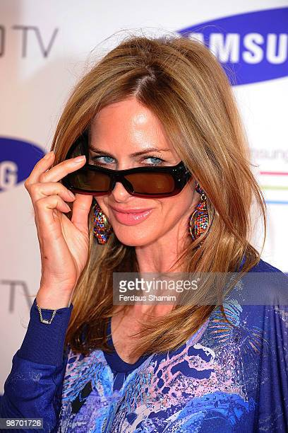 Trinny Woodall attends the launch party for the new Samsung 3D Television at Saatchi Gallery on April 27 2010 in London England