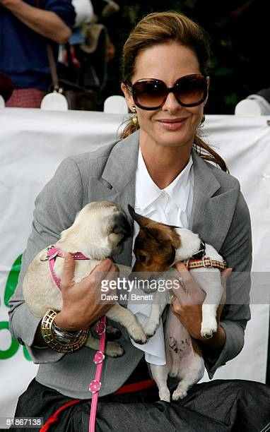 Trinny Woodall attends the Macmillan Dog Day at the Royal Hospital Chelsea on July 8 2008 in London England