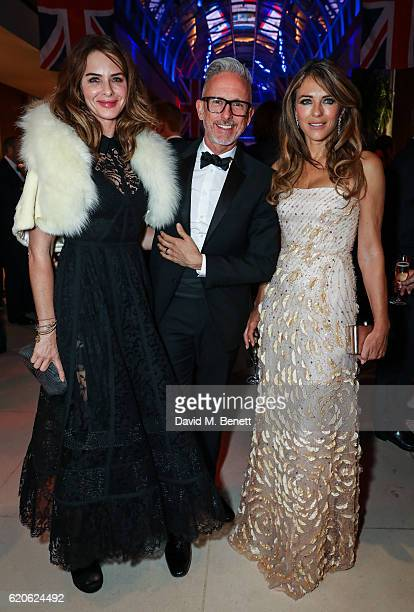 Trinny Woodall Patrick Cox and Elizabeth Hurley attend the 2016 London Poppy Day Dinner hosted by the City Veterans' Network at The Hurlingham Club...