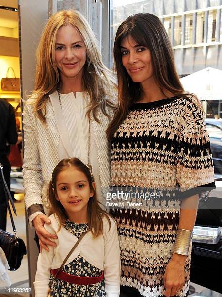 Trinny Woodall with daughter Lyla and Lisa Barbuscia aka Lisa B attend a children's afternoon tea party hosted by Roger Vivier to launch their new...