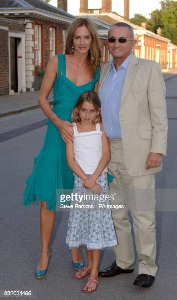 Trinny Woodall with her husband Johnny Elichaoff and her goddaughter Sophia Peraticos arrive for the Conservative Summer Party at the Royal Hospital...