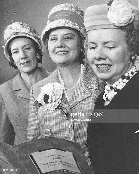 MAR 29 1961 APR 19 1961 Trio Eyes Auditions The 1961 San Francisco Opera Debut Auditions demand the attention of this trio mem¡bers of the Assistance...