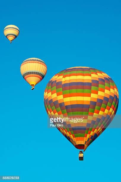 Trio hot air balloons
