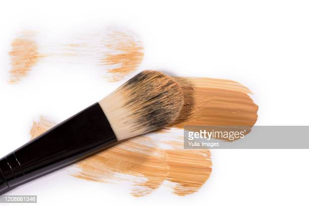 trio of beige face base foundation color in different shades - concealer stock pictures, royalty-free photos & images
