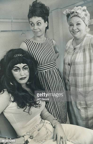 A trio of Les BellesSoeurs after makeup Melanie Morse Candy Kane and Monique Mercure They are three of 15 Canadian actresses who turn themselves into...