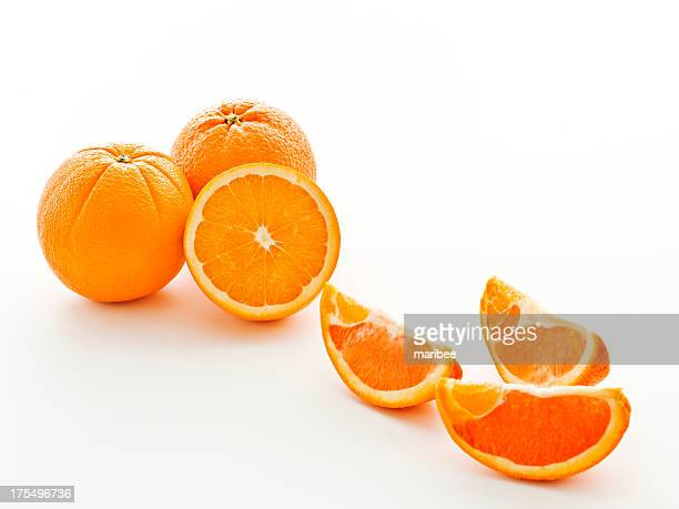 trio of navels - navel orange stock photos and pictures