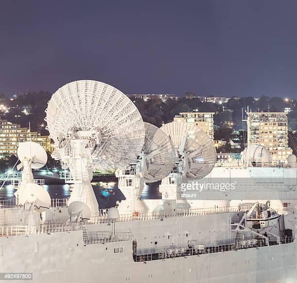 Trio of Satellite Dishes
