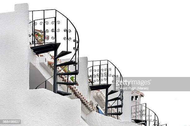 Trio of Spiral Staircases