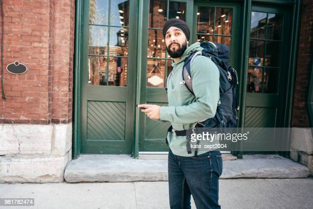 a trip abroad - sikh stock pictures, royalty-free photos & images