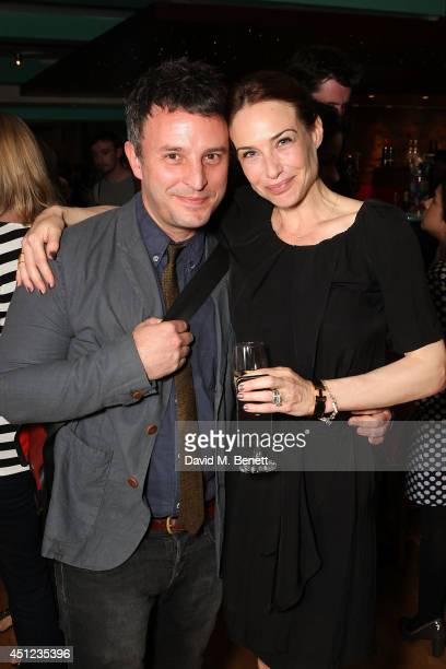Trip Cullman and Claire Forlani attend an after party following the press night performance of The Colby Sisters Of Pittsburgh Pennsylvania at The...