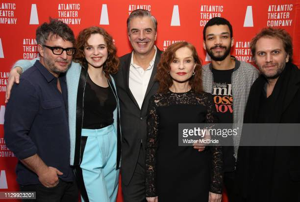 Trip Cullman Odessa Young Chris Noth Isabelle Huppert Justice Smith and Florian Zeller during the Opening Night after party for Atlantic Theater...