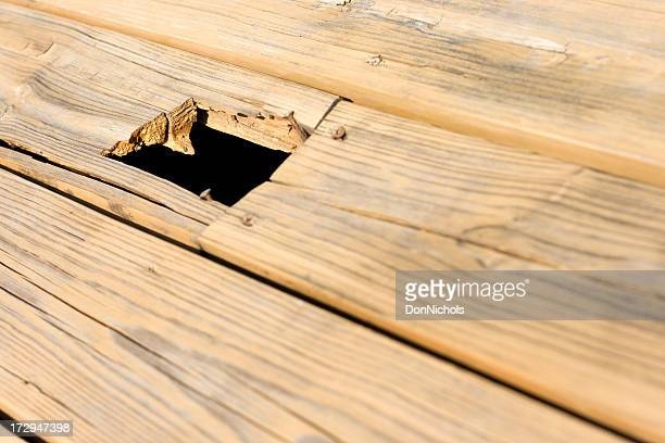 trip hazard, repairs needed - floorboard stock photos and pictures