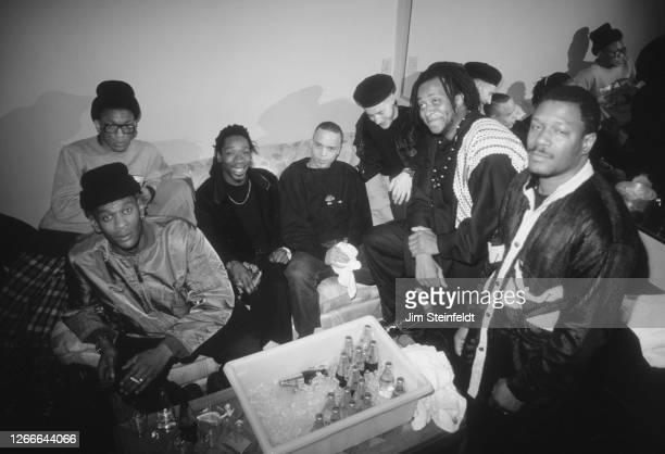 Trip hop band Massive Attack pose for a portrait in Minneapolis, Minnesota on November 1, 1991.